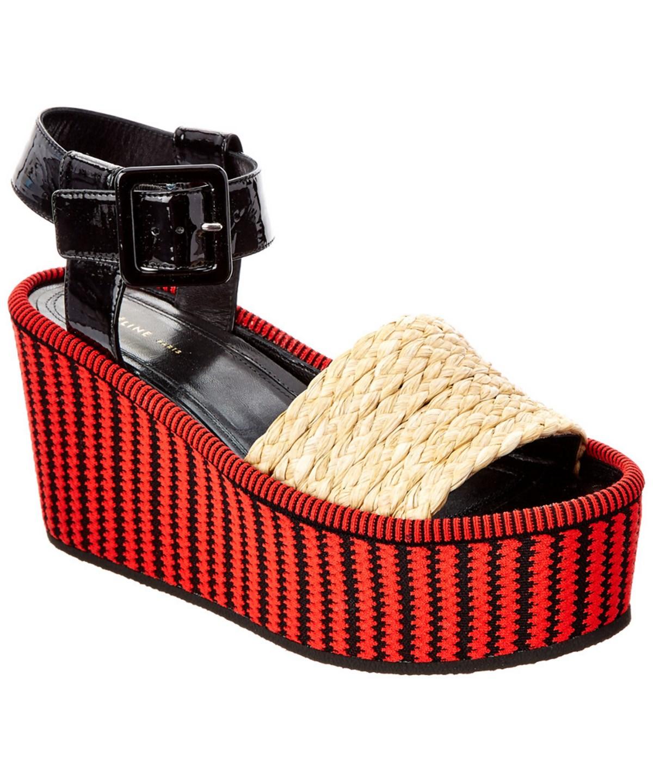 Celine Sandals In Red/Black