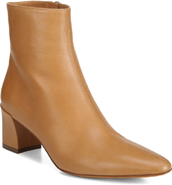 Vince Women's Lanica Leather Block Heel Booties In Wheat
