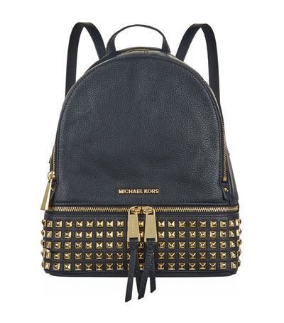 71f711a25feb Michael Michael Kors Rhea Medium Studded Leather Backpack In Admiral ...