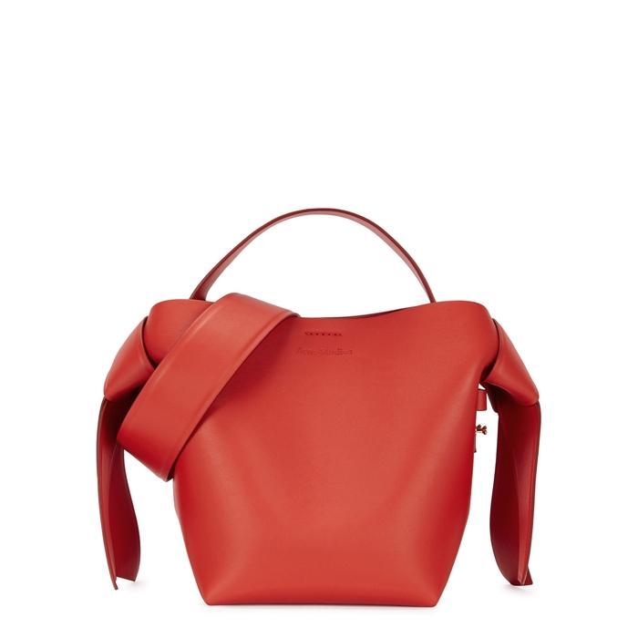 1409921e7903f Acne Studios Musubi Mini Leather Cross-Body Bag In Red