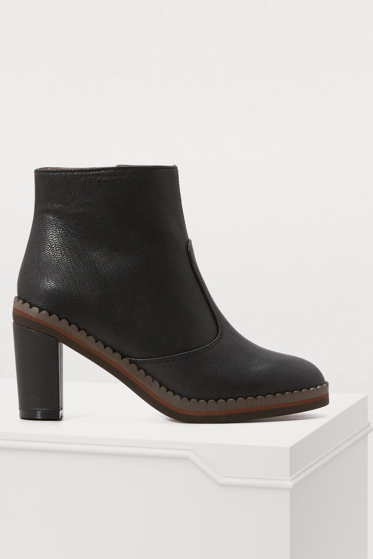 7a9db5b4837b See By ChloÉ Stasya Ankle Boots In Nero | ModeSens