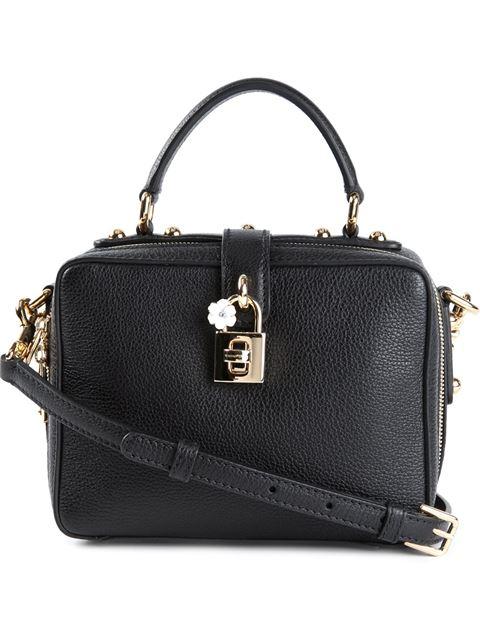 Dolce & Gabbana Rosaria Mini Textured-Leather Shoulder Bag In Black