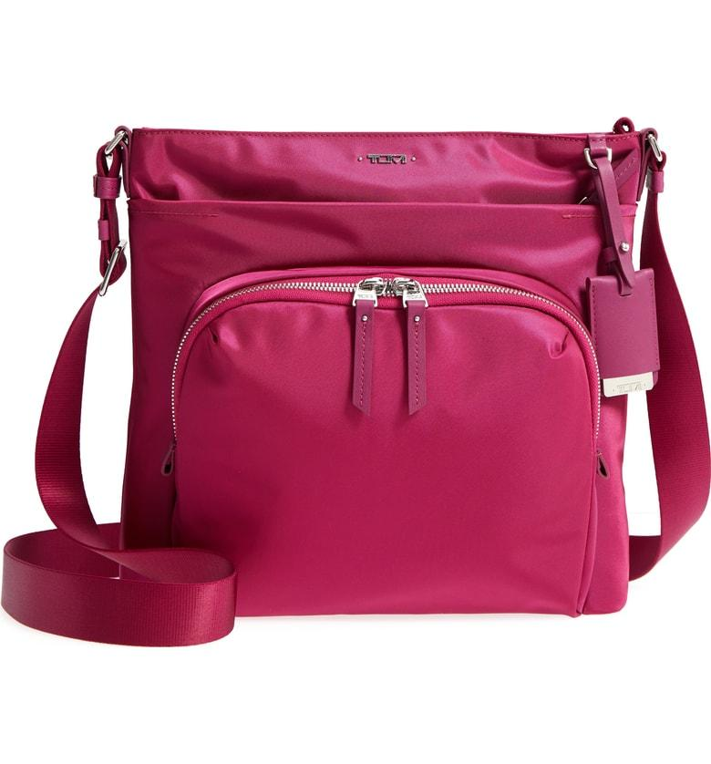 848782896953 Tumi Voyager - Capri Nylon Crossbody Bag - Pink In Magenta