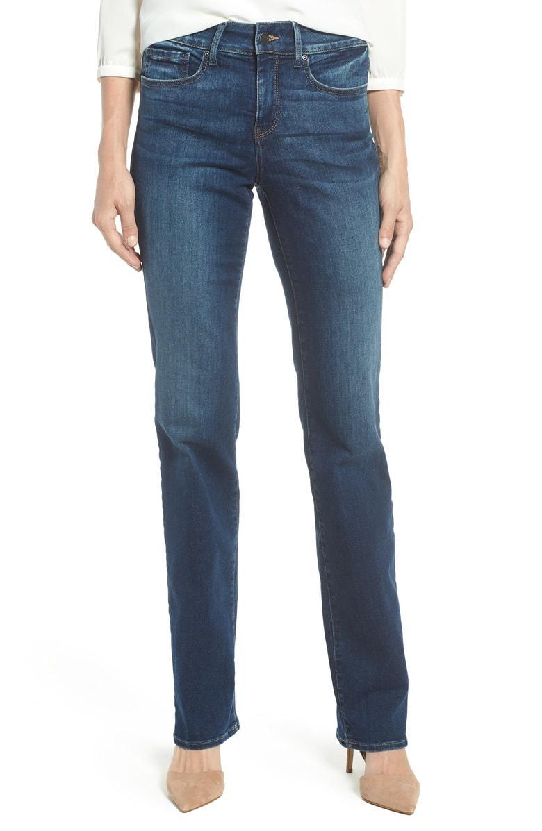 80f4b9088e3 Nydj Marilyn High Waist Stretch Straight Leg Jeans In Clean Muir ...