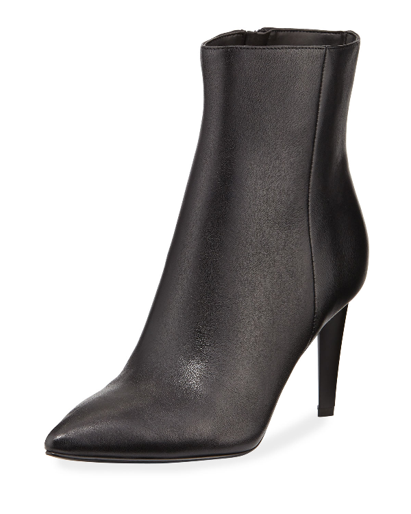 920a482dd Kendall + Kylie Zoe Leather Pointed-Toe Booties In Black | ModeSens