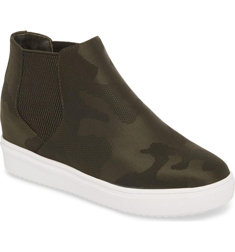 af5d565e22a1 Steve Madden Sultan Chelsea Wedge Sneaker In Camo