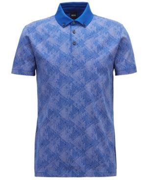 Hugo Boss Boss Men's Slim-Fit Cotton Polo In Cobalt Blue