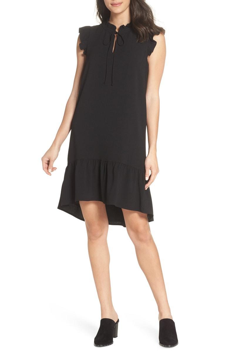 99720d905e Charles Henry Ruffle Shift Dress In Black