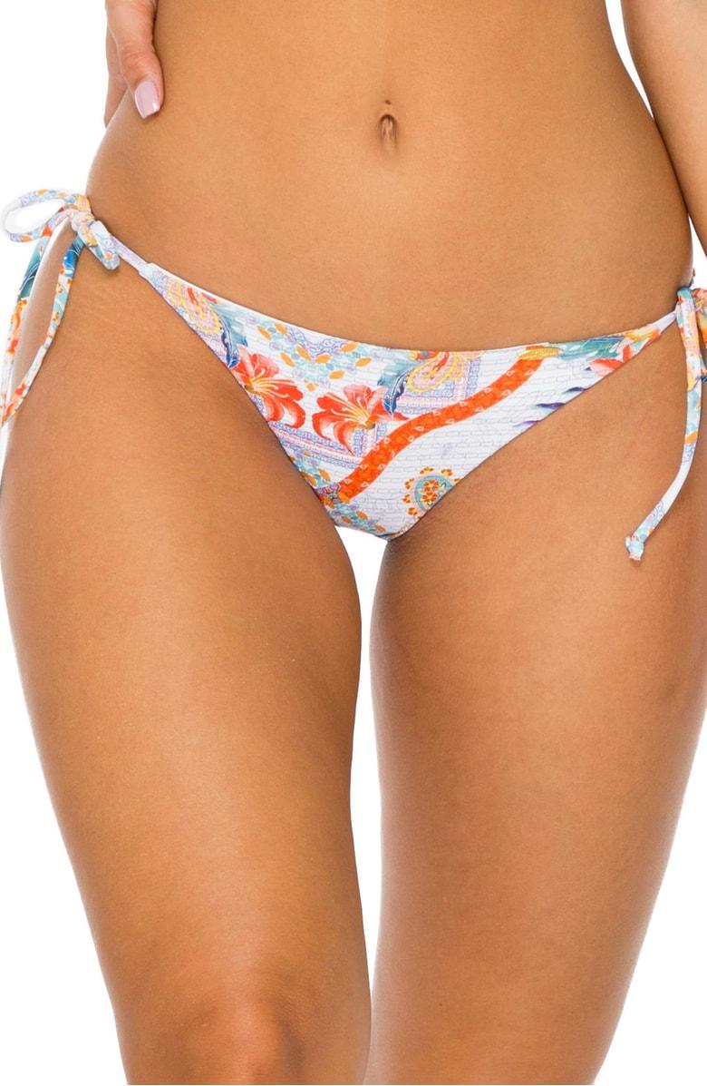 adc49b17c02 Luli Fama Side Tie Brazilian Bikini Bottoms In Red Multi | ModeSens