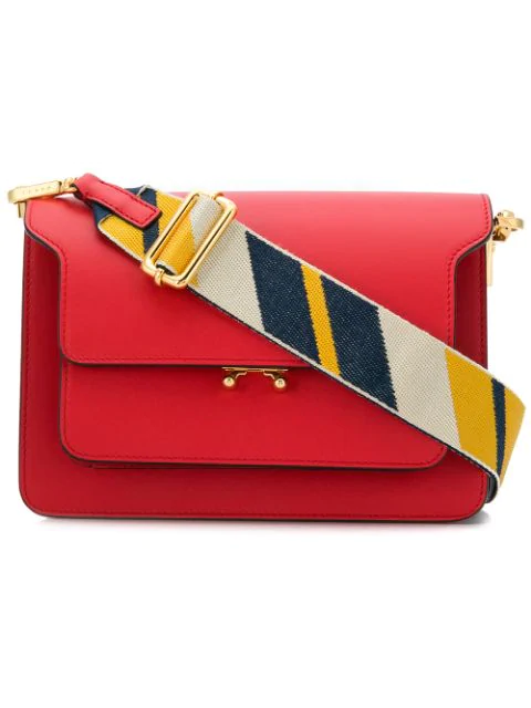 Marni Medium Trunk Bag - Red