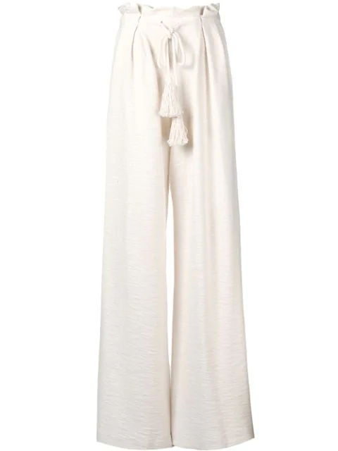 "Ulla Johnson Ivory ""ayana"" Trousers In White"