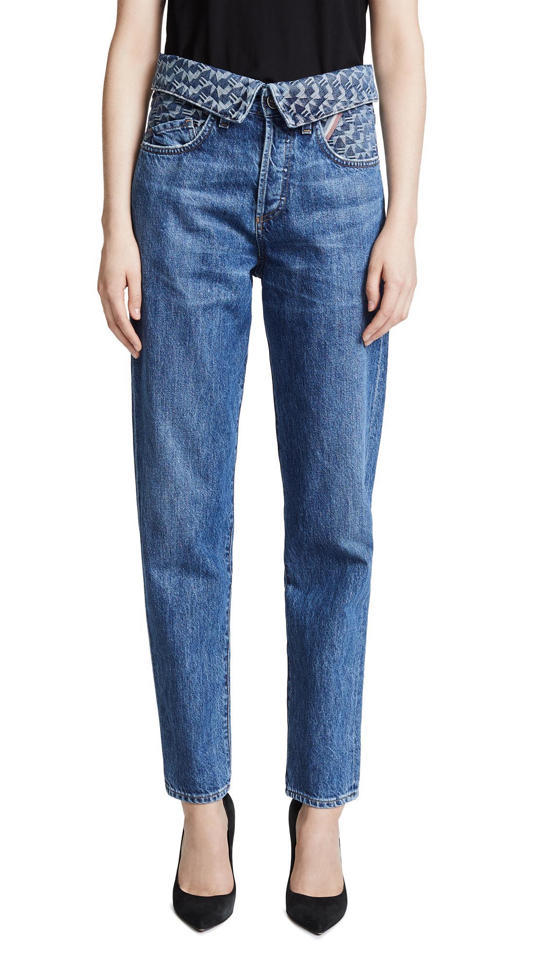 jean atelier flip in jeans in medium rinse modesens