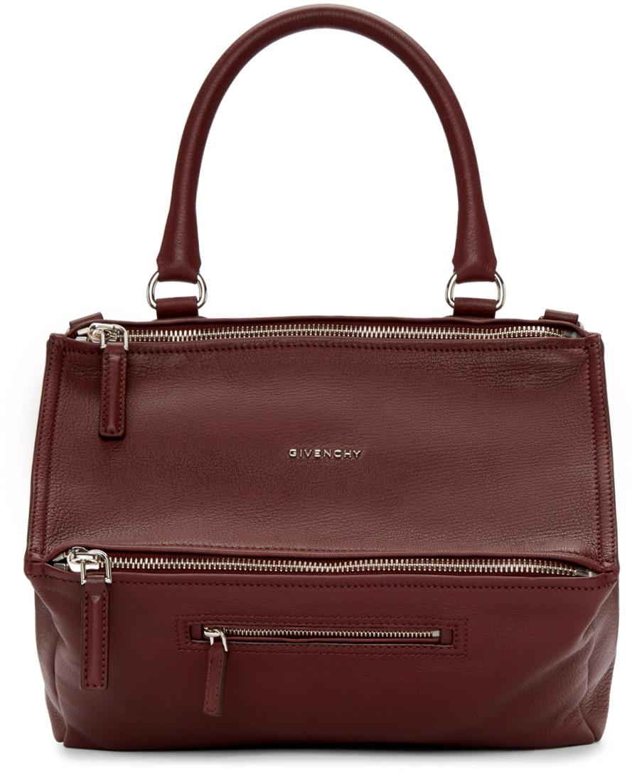 Givenchy Pandora Medium Leather Satchel Bag, Oxblood Red