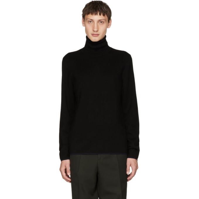 Joseph Black Merino Wool Turtleneck In 0010 Black