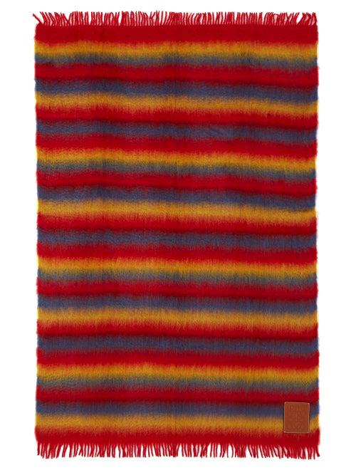 Loewe Anagram Logo-Patch Mohair Blanket In Rainbow
