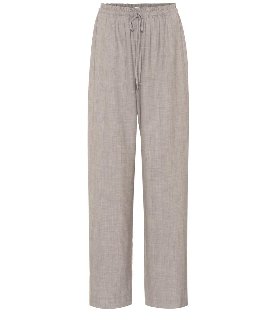 The Row Jr Stretch Wool Pants In Grey