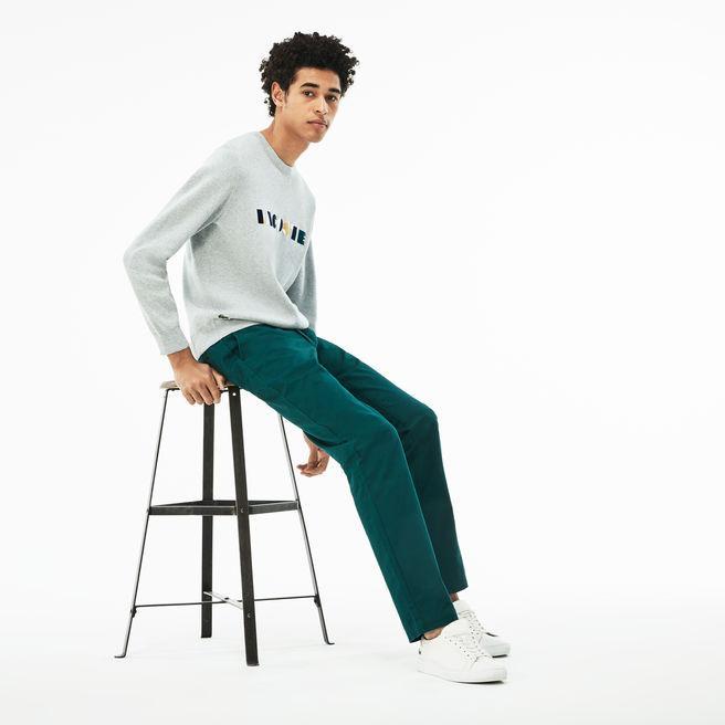 18f6eecfd9 Men's Slim Fit Stretch Gabardine Chino Pants in Green