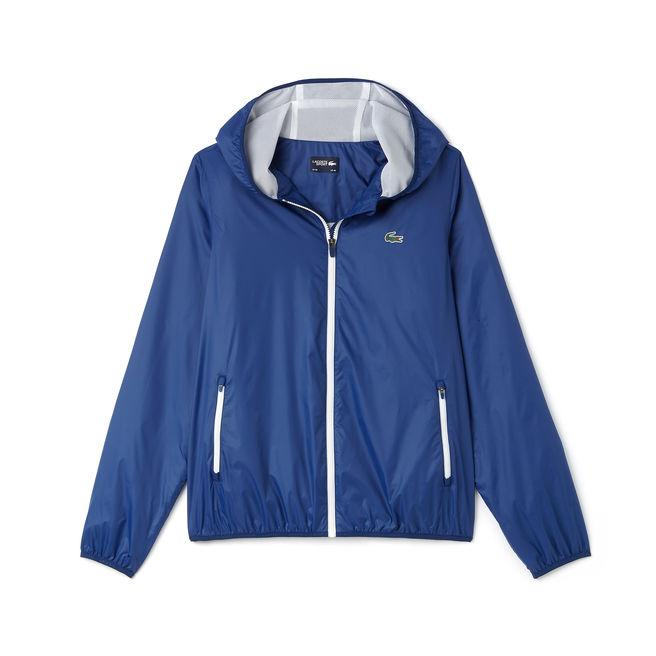 3b20ec79e Lacoste Men S Sport Hooded Technical Tennis Jacket In Navy Blue   White