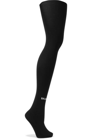 Balenciaga Printed Tights In Black