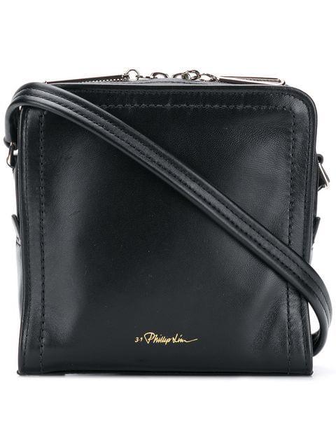 c338aded Hudson Mini Square Leather Crossbody Bag - Black