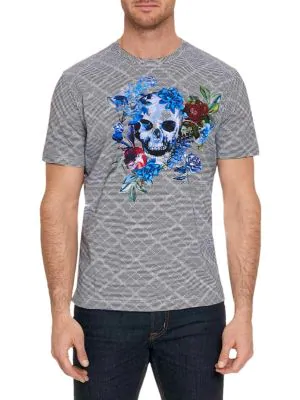 Robert Graham Men's Naylor Skull Graphic Striped T-Shirt In Multicolor