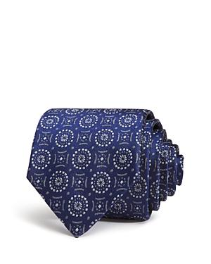 4c6365838929 Emporio Armani Medallion Classic Silk Tie In Blue | ModeSens