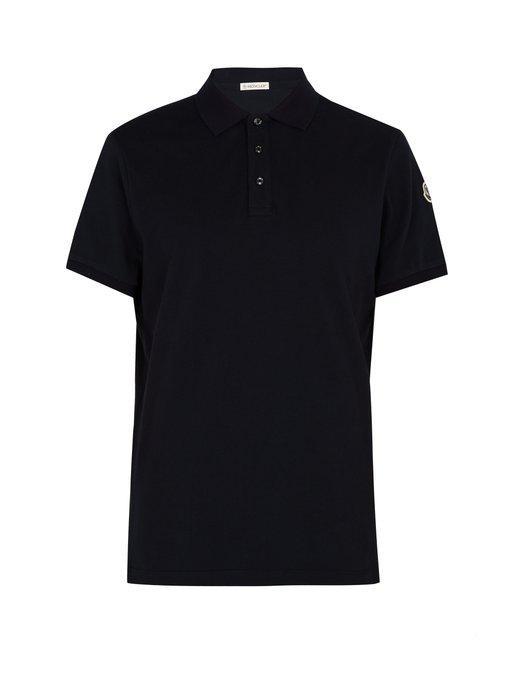 Moncler Cotton-PiquÉ Polo Shirt In Navy