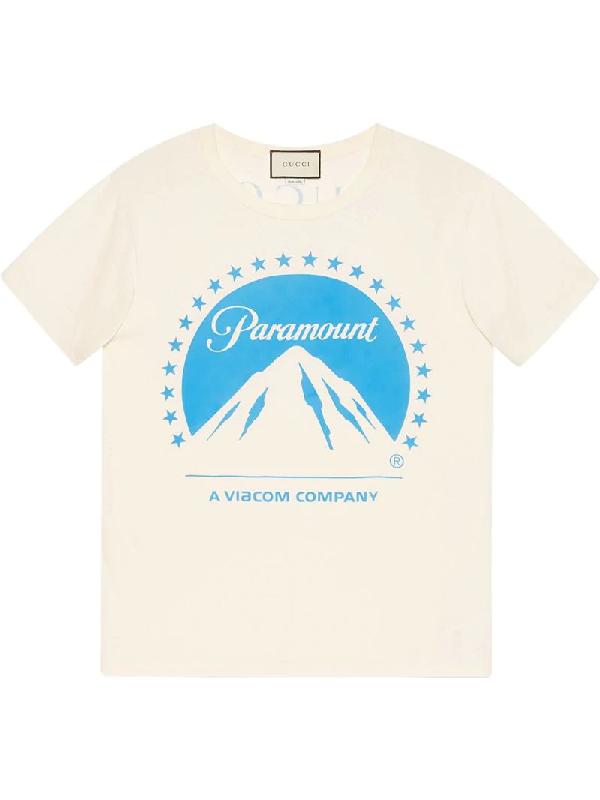 ea21460e Gucci Paramount Short-Sleeve Crewneck Cotton Jersey T-Shirt In White ...