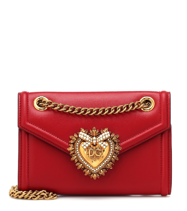 9cc745f64ac Dolce & Gabbana Micro Devotion Leather Crossbody Bag - Red | ModeSens