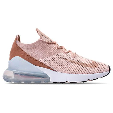 brand new 8d661 bea9e Nike Women s Air Max 270 Flyknit Casual Shoes, Brown In Pink. Finish Line