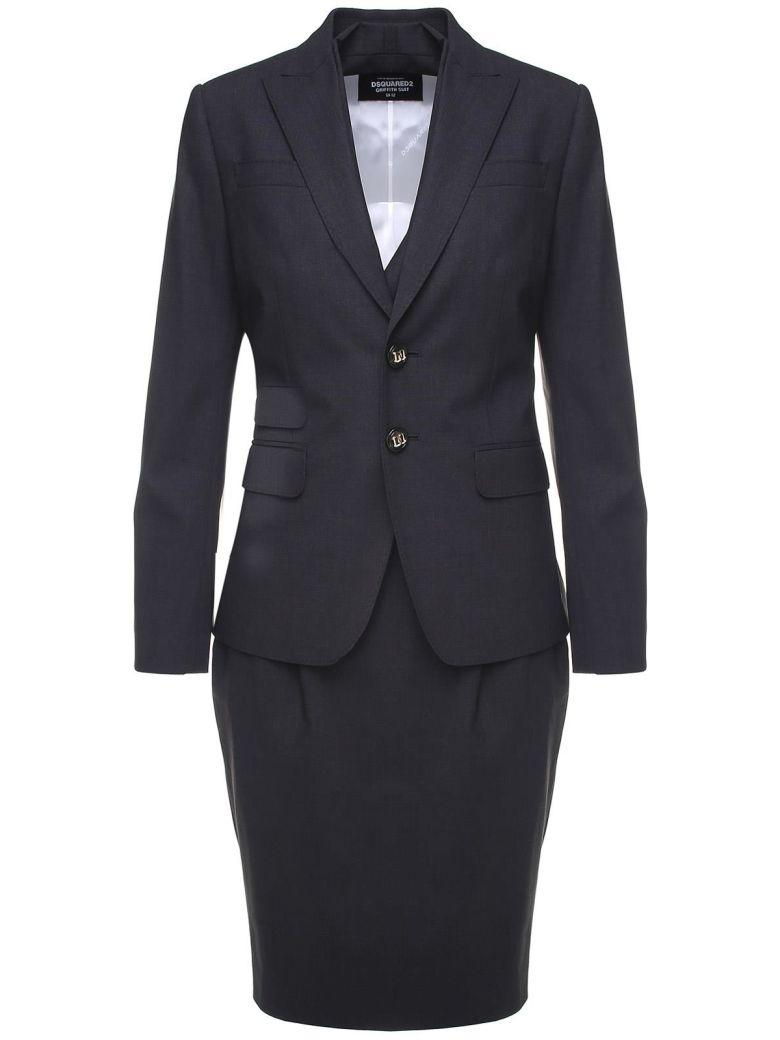 Dsquared2 Wool Dress Suit In Grigio