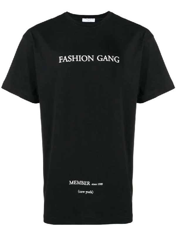 Ih Nom Uh Nit Fashion Gang New York Cotton T-Shirt In Black