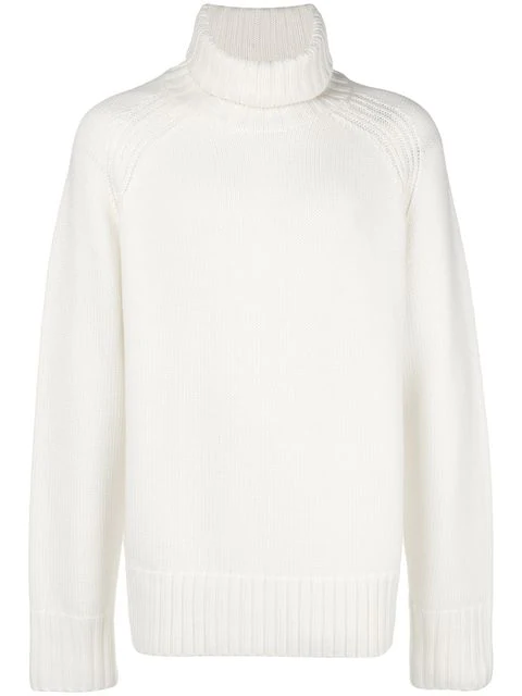 Joseph Ribbed Turtleneck Knit In White