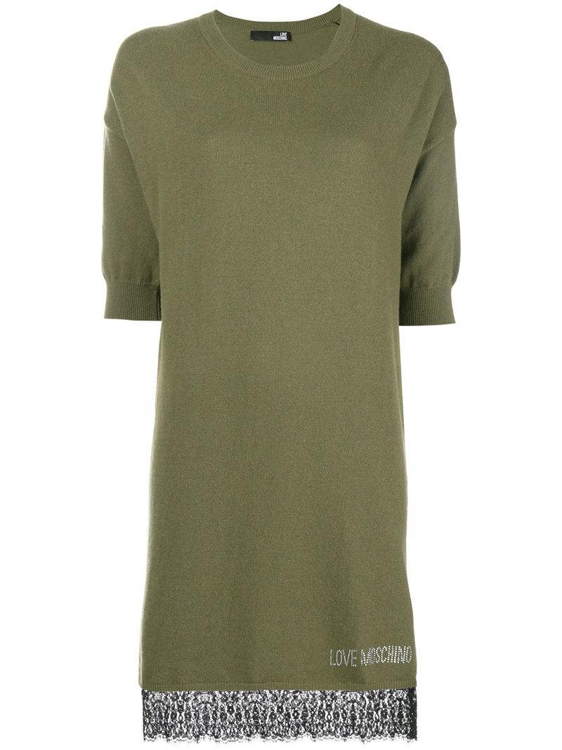 2f730bf2276 Love Moschino Short Sweater Dress - Green