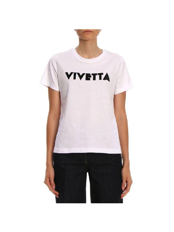 Vivetta T-Shirt With Logo Print In White