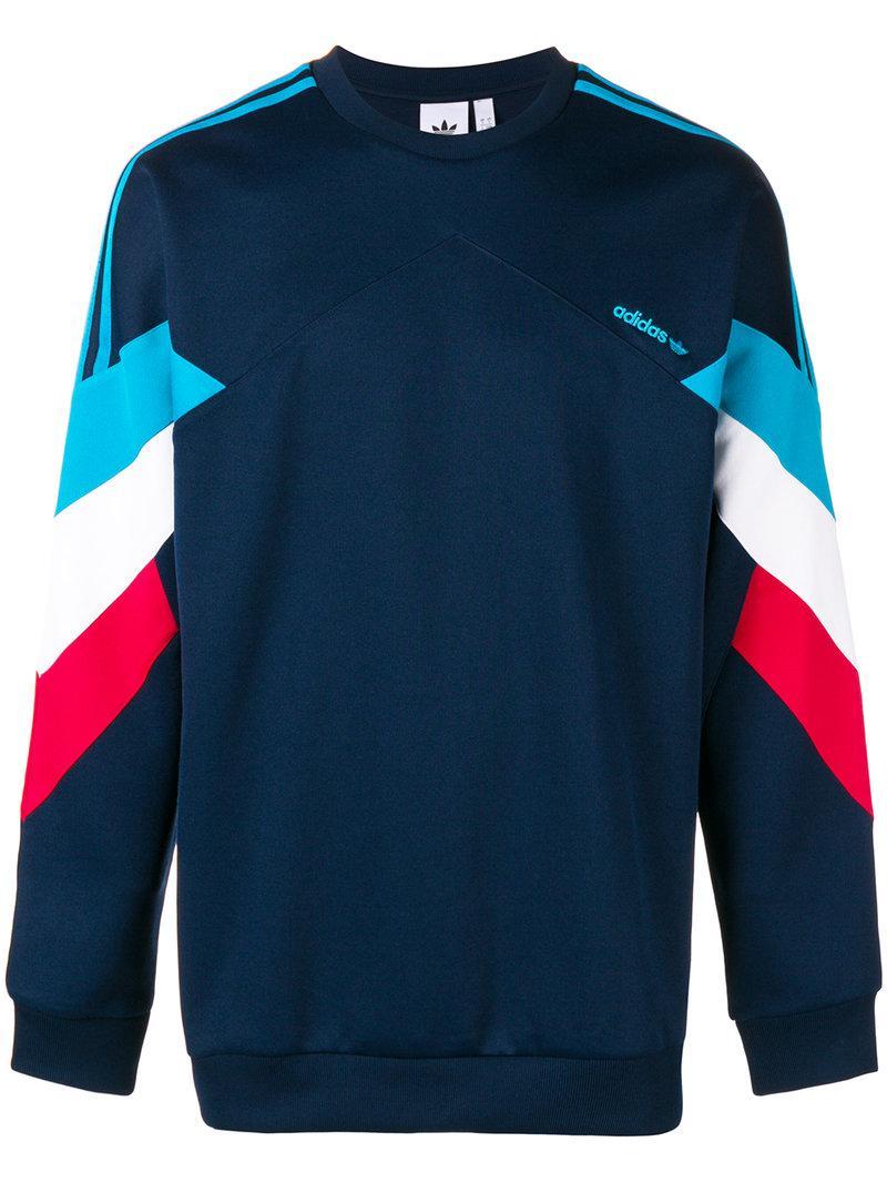 exterior Chirrido puerta  Adidas Originals Adidas Palmeston Sweatshirt - Blue | ModeSens