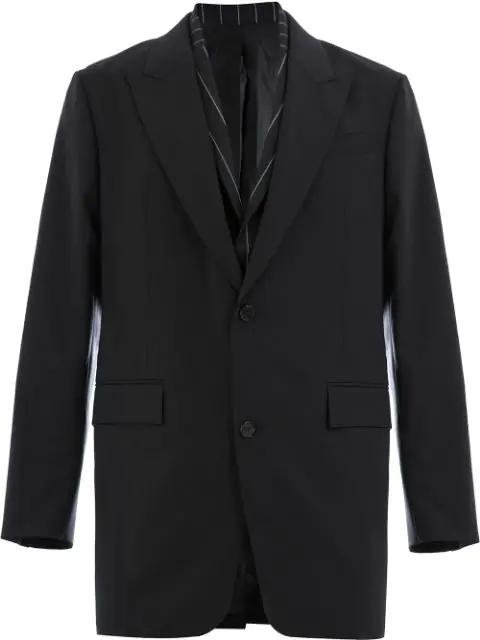Juun.J Double Layer Jacket - Black