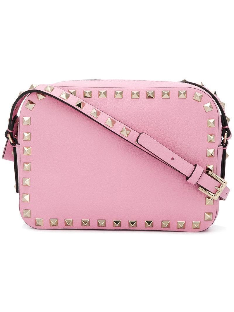 6f08d788cd0 Valentino Garavani Rockstud Crossbody Bag - Pink In Pink & Purple ...