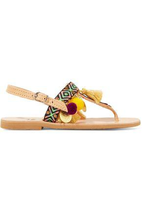 Mabu By Maria Bk Woman Aeesha Embellished Leather Sandals Tan