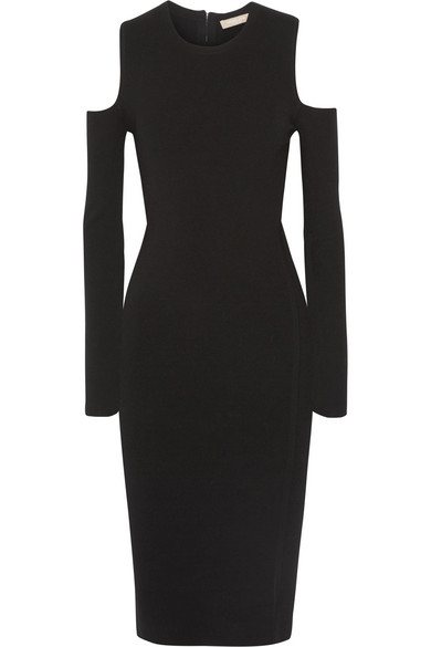 Michael Kors Dress With Cut-Out Shoulders In Black