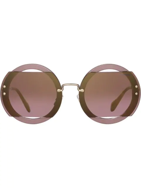 e8733af4c4e9 Miu Miu Eyewear Reveal Glitter Sunglasses - Grey | ModeSens