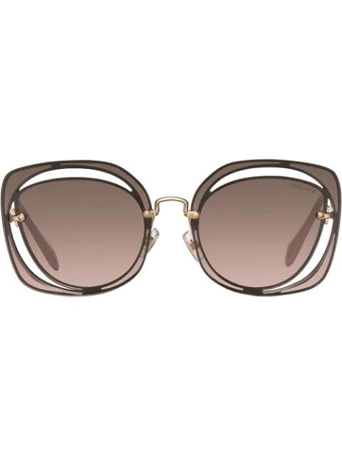 Miu Miu Scenique Sunglasses In Brown
