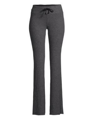 Wildfox Bbj Slim-fit Flare Pants In Jet Black