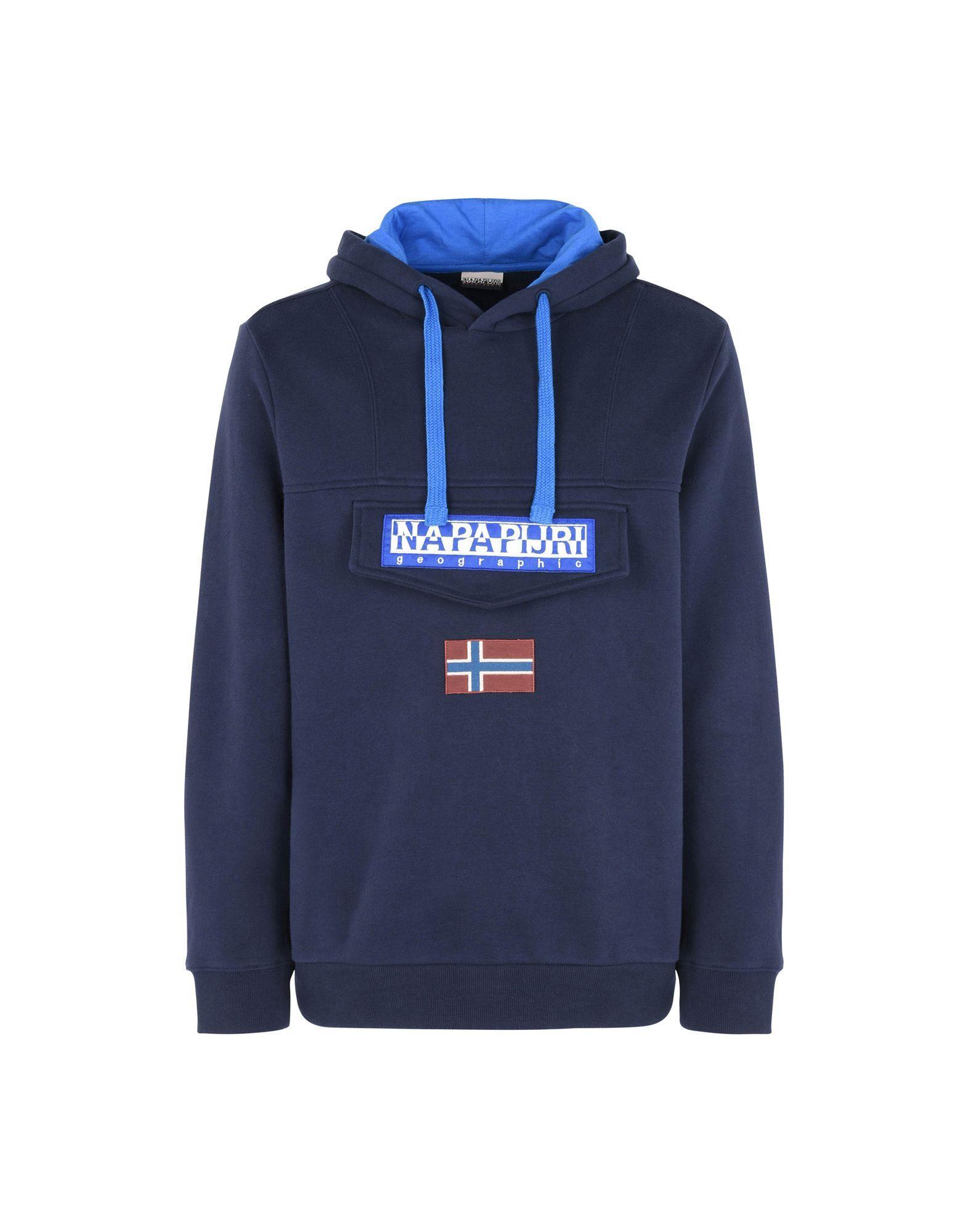 Napapijri Blue Regular Fit Hooded sweatshirt