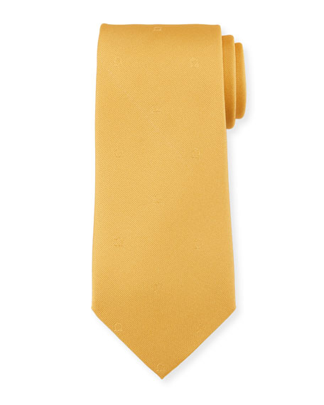 Salvatore Ferragamo Eston Solid Silk Tie, Yellow
