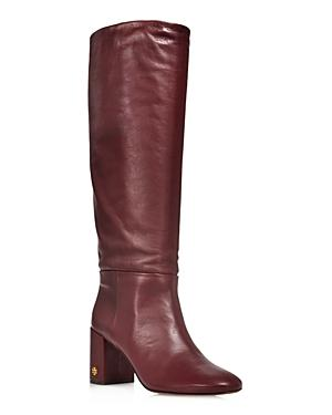 091c08419beb Tory Burch Women. TORY BURCH. Women s Brooke Slouchy Leather Tall Boots in New  Claret