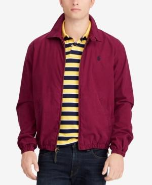 e7a52e01 Polo Ralph Lauren Men's Bayport Cotton Windbreaker, Created For Macy's In  Classic Wine