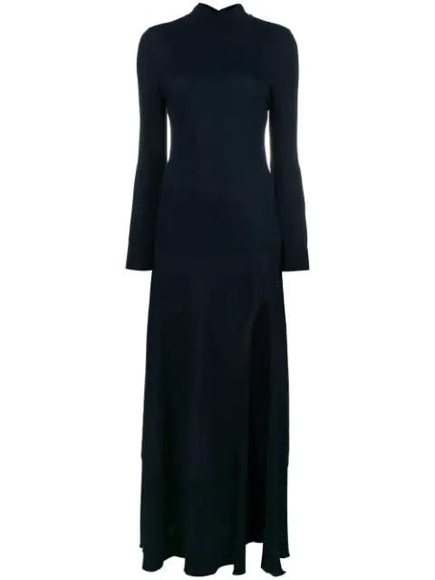 Jacquemus La Robe Baya Stretch-Cotton Dress In Dark Navy