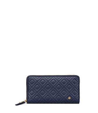 485c2c6250f Tory Burch Fleming Zip Continental Wallet In Royal Navy | ModeSens