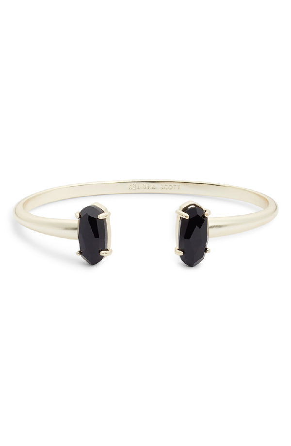 aea45f1db4c Kendra Scott Edie Two-Stone Bangle Bracelet In Black/ Gold | ModeSens